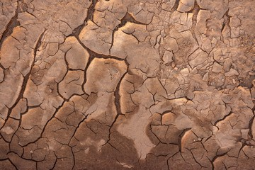 Dry soil closeup before rain