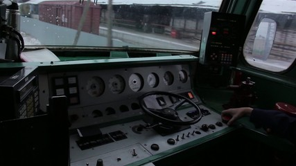 View from the locomotive