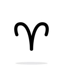 Aries zodiac icon on white background.