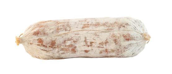salami in white background