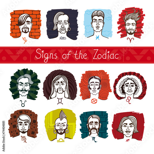 Twelve signs of the Zodiac in persons - 74404881