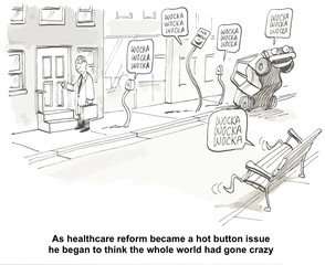 """As healthcare reform... whole world had gone crazy."""