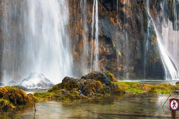Closeup of waterfall