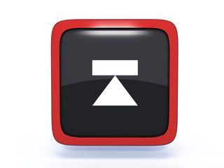 eject square icon on white background