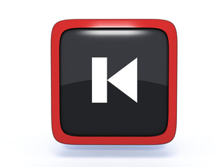 prev square icon on white background