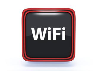 wifi square icon on white background