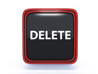 delete square icon on white background