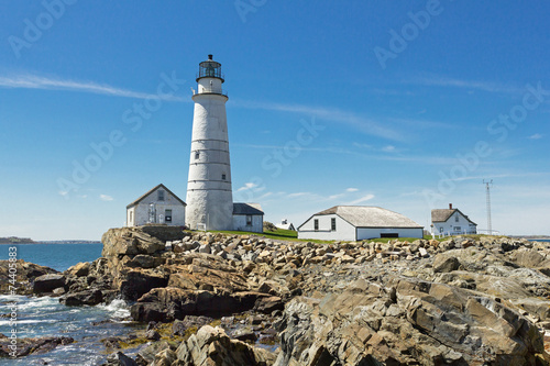 Fotobehang Natuur Park Boston Lighthouse on a nice clear day