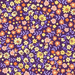 retro ditsy seamless floral print