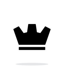 Crown icon on white background.