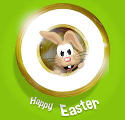 Happy Easter Golden Feeling