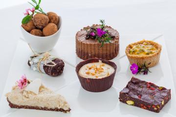 Mixed raw vegan desserts