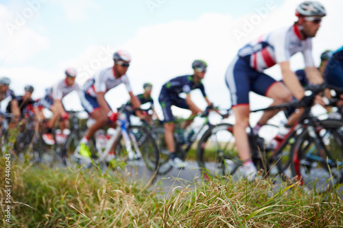 Abstract View Of Competitors In Cycle Race