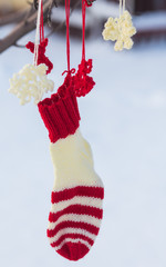 Santa Claus Christmas boot for gifts outside