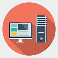 Vector computer desktop icon