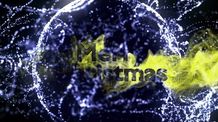 Merry Christmas Gold Text