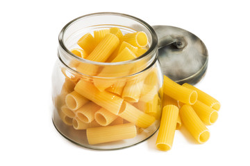 italian macaroni on white background