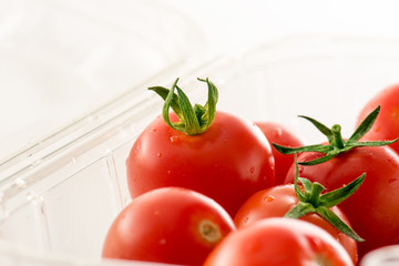 cherry tomatoes on market package