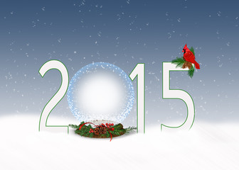 Christmas snow globe for 2015