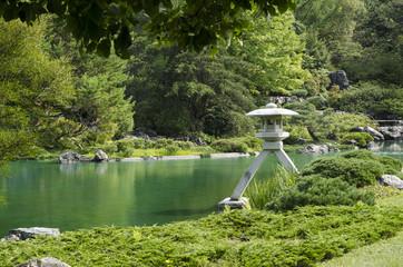 Japanese garden in Botanical garden, Montreal