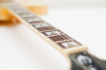 Detail of electric guitar neck