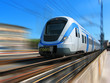 High-speed train with motion blur - 74408459