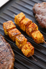 Picanha steak with pineapple