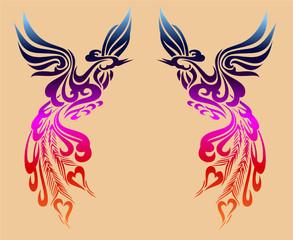 Ancient Chinese Phoenix pattern