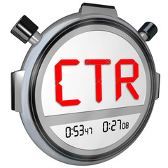 CTR Click Thru Rate Stopwatch Timer Measure Online Results Views