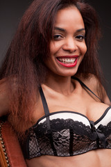 afroamerican model's beautiful smile