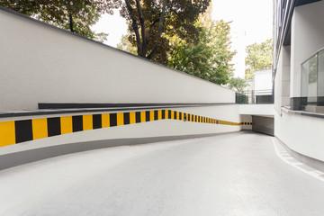 Ramp in modern building