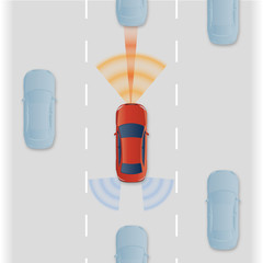 Remote Sensing System of Vehicle. intelligent car, AI10 vector