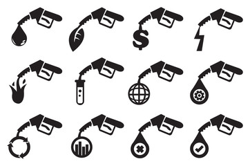 Petrol Pump Vector Icons