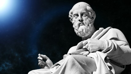 Animation of the philosopher Plato in 4K format