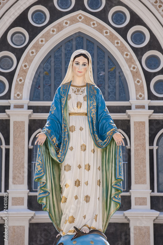 Mary figure standing