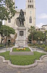 Statue of Simon Bolivar in Ecuador