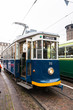 The green historic tram in Turin - 74411641