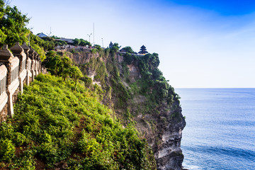 view of a cliff in Bali Indonesia.