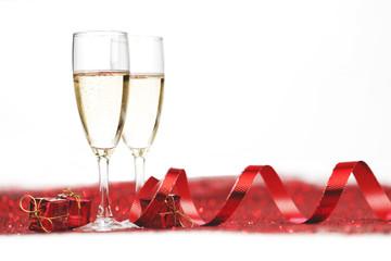 Champagne on glitters