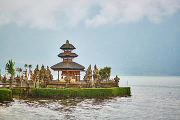 Balinese water palace on Bratan lake