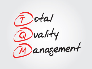 Total Quality Management (TQM), vector business acronym