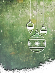 Grunge Christmas background with snowflakes