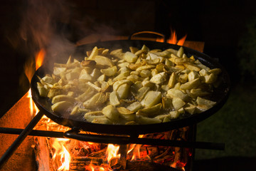 Traditional cooked potatoes