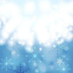Blue shiny light vector Christmas design