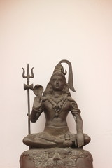 Sculpture on bronze of Shiva Nataraja or Mahesh
