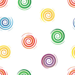 seamless background of watercolor spirals , vector illustration