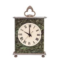 Mantel clock showing ten o'clock