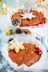 Christmas stollen and gingerbread cookies