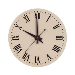 Vintage clock face showing ten o'clock
