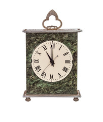 Mantel clock showing eleven o'clock
